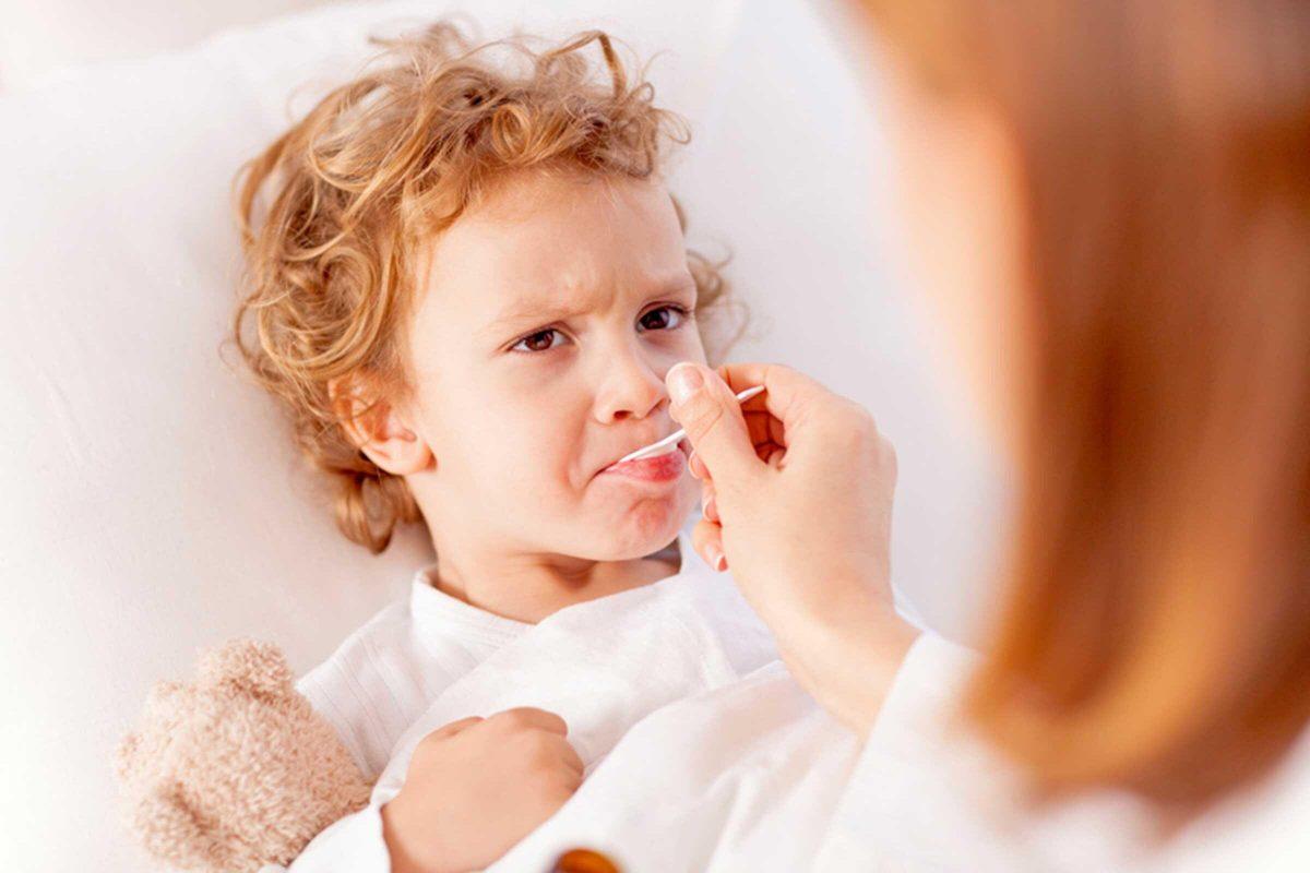 Фото больного ребенка гриппом