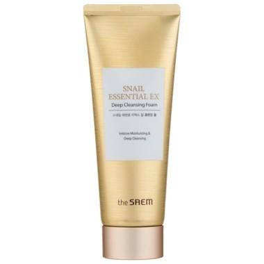 The Saem Snail Essential EX Wrinkle Solution Deep Cleansing Foam