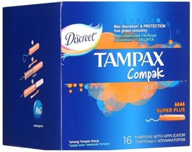 TAMPAX Compak Super Plus с аппликатором