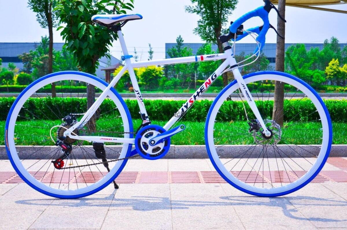 голубой велосипед