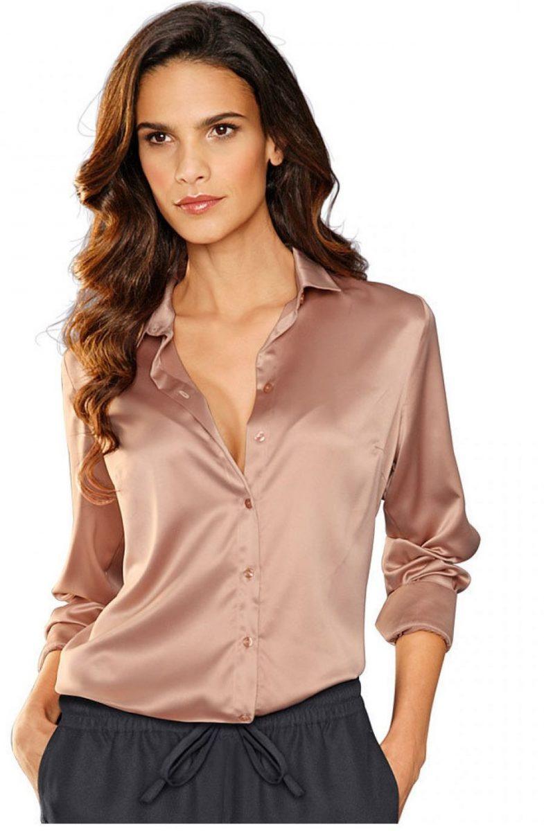 вашему вниманию шелковая рубашка женская фото мешает, хотелось